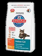 Корм для котов Hills SP Feline Adult Indoor Cat 4 кг хиллс для кошек живущих в помещении, с курицей