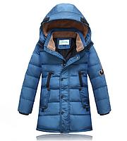 Детский пуховик куртка зимняя на мальчика подростковый