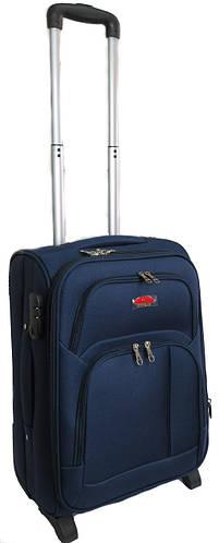 Малый тканевый двухколесный чемодан 45 л. Suitcase 913753 синий, красный, хаки, черный, серый, св.синий