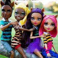 Набор кукол Monster High Клодин, Хоулин, Клавдия и Клод (Clawdeen, Clawd, Howleen, Clawdia) Монстр Хай