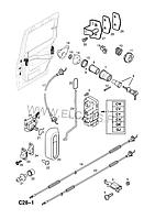 Фиксатор направляющая боковой двери Опель Комбо / Opel Combo 9179783, 13157321,