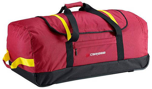 Большая дорожная сумка на колесах 130 л. Caribee Drag Bag 130, бордовая 921798