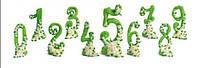 """Цифра """"0-9 юбилейная""""зеленая (код 01492)"""