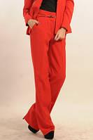 Брюки модные широкие от бедра красные
