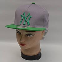 Мужская реперская кепка SNAPBACK - NY (серая)