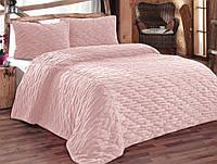 Покрывало 270х250 с наволочками IRYA Rolyef розовое