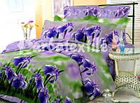 """Комплект постельного белья """"Ирисы"""", 1,5 ранфорс"""