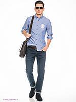 Мужская рубашка с длинными рукавами ( L) Solid Jerrod