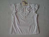 Белая блуза для девочки, р.р.110, 116