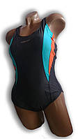 Купальник женский для бассейна. Rivage Line. Серый. 8984