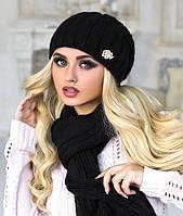 Комплект шапка и шарф в 6ти цветах 4157-10