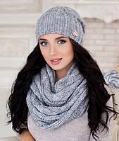 Комплект шапка и шарф-хомут в 5ти цветах 4157-8
