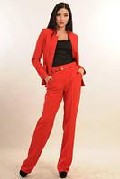 Элегантный женский брючный костюм Красный