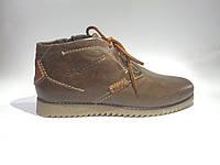 Кожаные мужские удобные стильные модные коричневые зимние ботинки 39р Eclipse