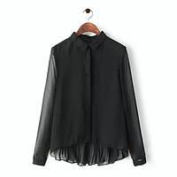 Черная и белая блузка, спинка плиссировка