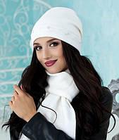 Зимний женский комплект шапка и шарф в 12ти цветах 5015-10