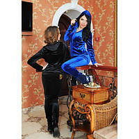 Модный красивый женский велюровый спортивный костюм Порше
