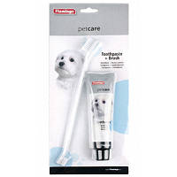 Karlie Flamingo (Карли Фламинго) Petcare Toothpaste+Toothbrush набор зубная паста и зубная щетка для