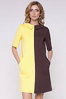 Оригинальные двухцветные трикотажные женские платья. Безупречный пошив