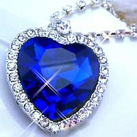 """Ожерелье """"Сердце океана"""" с кристаллами, из кинофильма Титаник"""