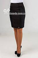 Женская короткая  юбка Эмма жакард черного цвета