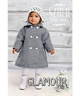 Классное кашемировое пальто для девочки весна/осень 3 цвета
