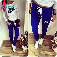 Спортивный костюм женский Nike синий , купить спортивный костюм