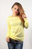 Джемпер пуловер кофточка кофта желтая размер 46-48 красивая AL4