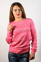 Джемпер пуловер кофточка кофта розовая размер 46-48 красивая AL4