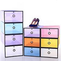 Органайзер контейнер для обуви и мелочей White,Blue.