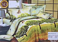 """Сатиновое """"3Д"""" постельное белье эвро (Xin Jian Ya) 4 наволочки"""