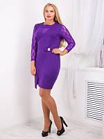 Оригинальное фиолетовое платье больших размеров (рр 50-62), разные цвета