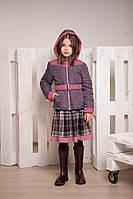 Демисезонная куртка на  одинарном холлофайбере для девочки от 6 до 10 лет
