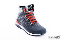 Мужские кожаные зимние ботинки спорт 40-45 размер