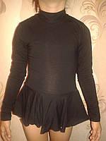 Купальник с юбкой для танцев и гимнастики закрытый (х/б) р.28-42