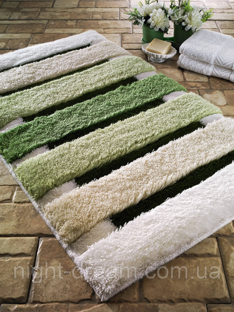 Коврик для ванной  60х100  CONFETTI Elite   SELINUS Green (Yesil)