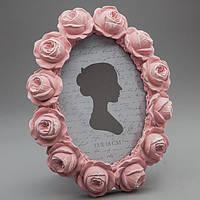 """Овальная фоторамка """"Розы"""" в винтажном стиле"""