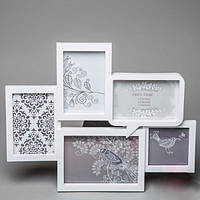 Сиреневая рамка для фотоколажа на стену в стиле шебби-шик