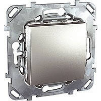 Выключатель кнопочный алюминий Schneider Electric - Unica (Шнейдер Электрик Уника mgu3.206.30)