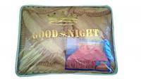"""Покрывало нейлоновое с рюшей (180х220см)+ 3 подушки """"Good Night"""" , расцветка в ассортименте"""