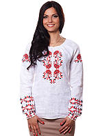 Белая женская вышиванка из льна