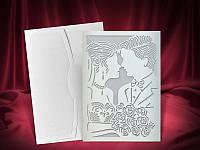 Пригласительные на свадьбу, лазерная высечка, эксклюзивные свадебные пригласительные