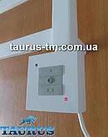 Белый квадратный ТЭН с управлением на кнопках 2 режима, Польша. Съёмный регулятор. Мощность: 200-900Вт.