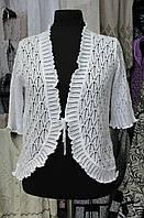 Болеро женское вязаное на завязке