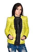 Женская весна-осень куртка Рюша (лимон), фото 1