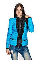 Женская деми куртка Рюша (голубой), фото 1