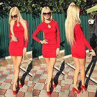 Женское стильное платье с длинным рукавом (3 цвета)