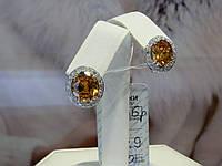 Серьги серебряные с куб.цирконием