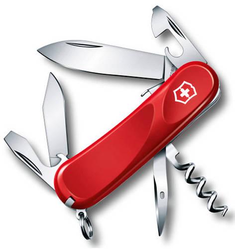 Офицерский надежный складной нож Victorinox EvoGrip 10, 23603.SE красный