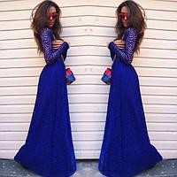 Платье длинное +дорогой гипюр на подкладке